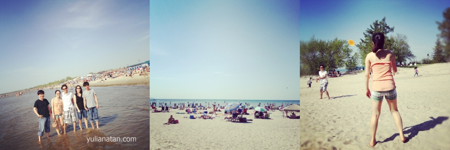 Went to Wasaga Beach with friends. May 20,2012. Ontario, Canada