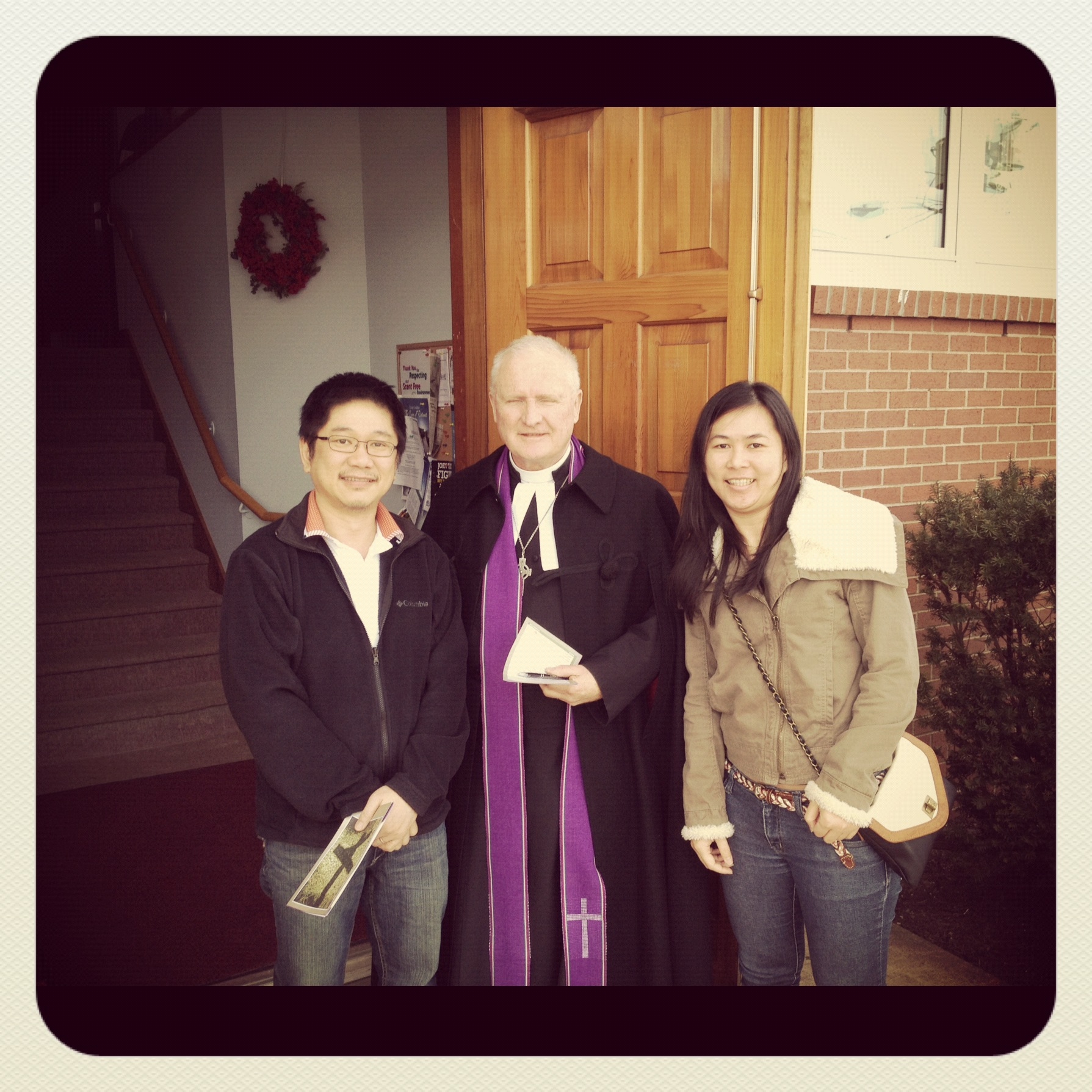 Said good bye to Pastor Sandy, March 03,2012. Dartmouth, Canada