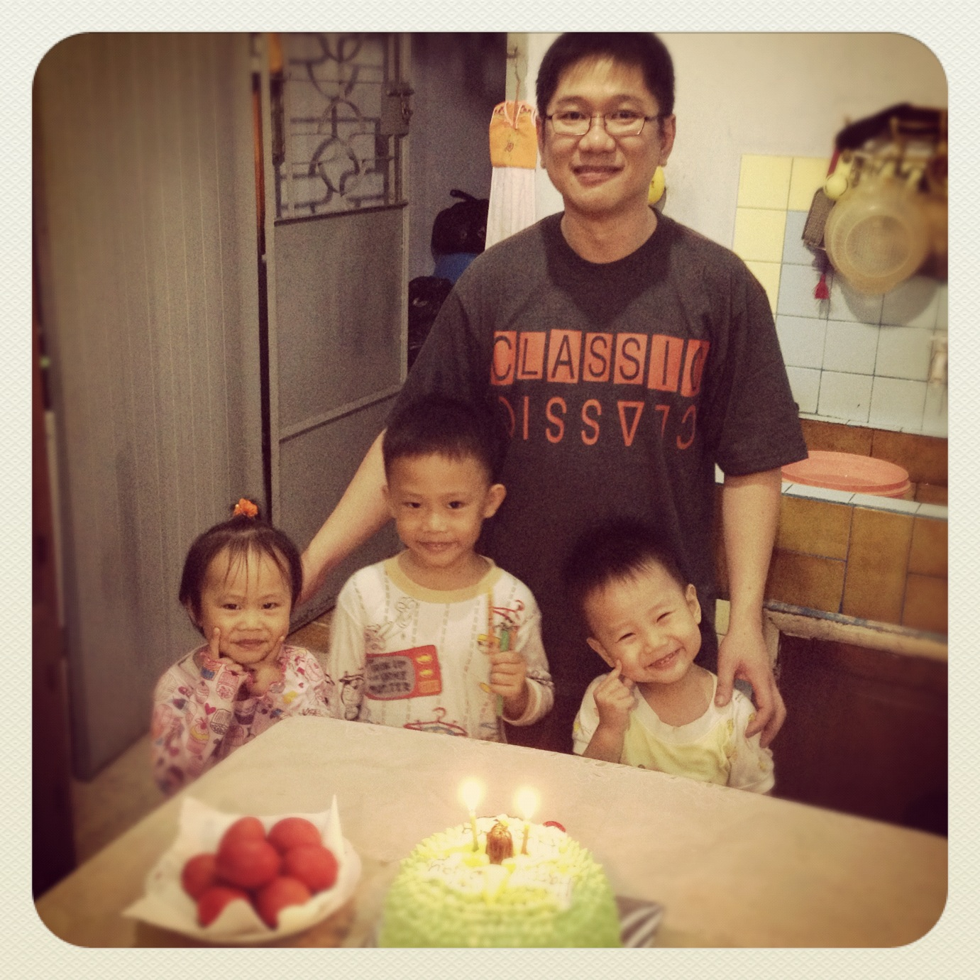 Hadi's bday. April 04,2012. Jambi, Indonesia