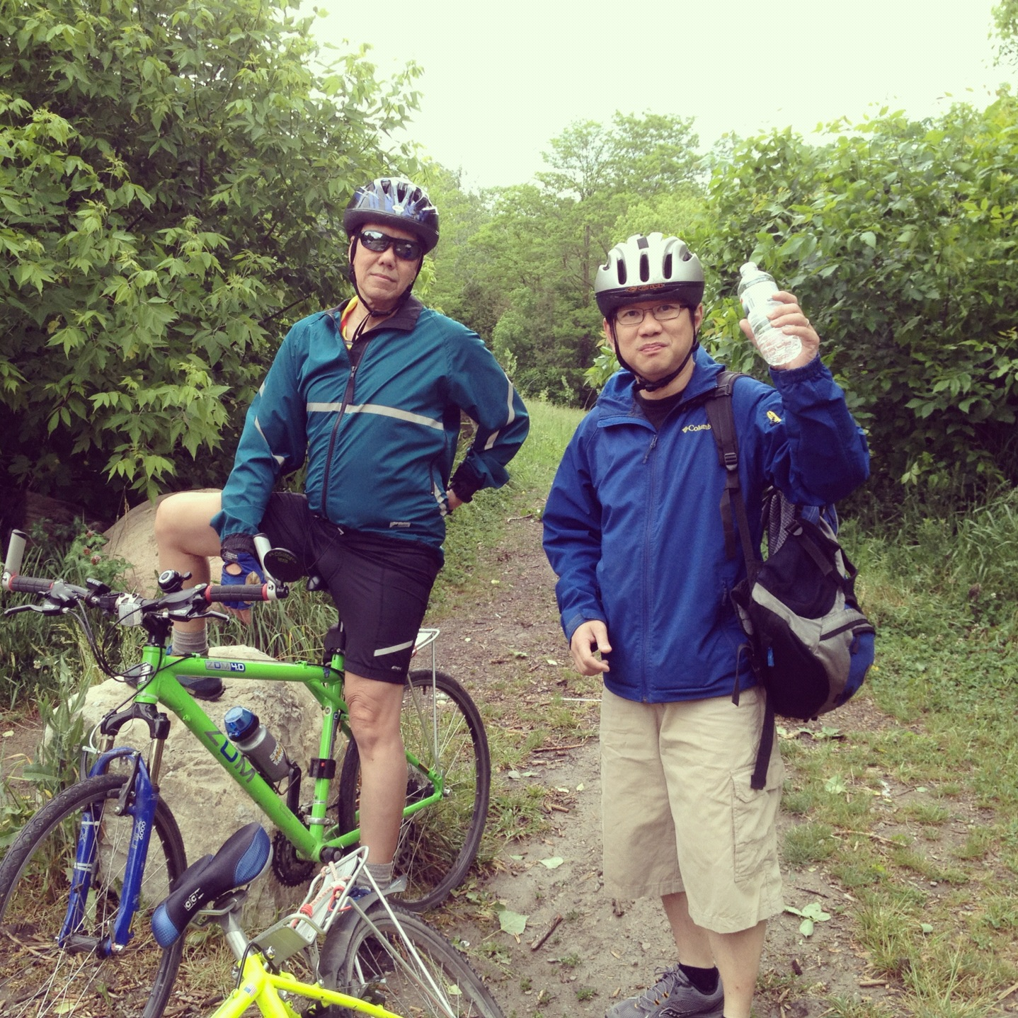 Went to cycling with Om JeHa. June 02,2012. Toronto, Canada