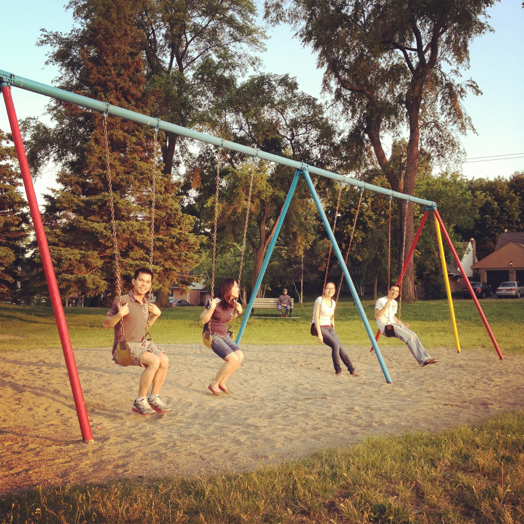Went to Park near our Apartment with friends. June 09,2012. Etobicoke, Canada