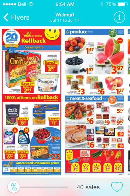 This juts example of the flyer when we click to look at it. It exactly the same with the paper flyer that Walmart produces.