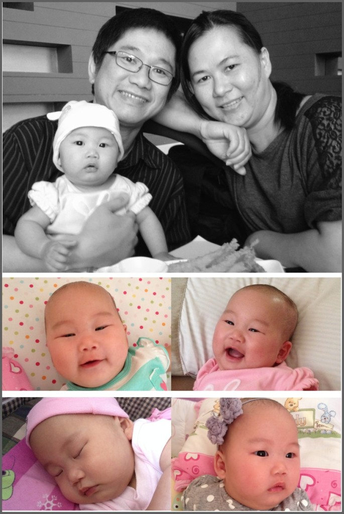 It was Papa & Mama 4th Wedding Anniversary :0 When we celebrated our 3rd Anniversary, Olivia already in Mama's tummy but no one knew included Mama herself. With Olivia in Papa & Mama's life, All look more happy and merrier, Thank you Olivia! Mwaaahhh...